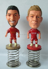 3d soccer player action figure/OEM plastic action figures plastic toy football player