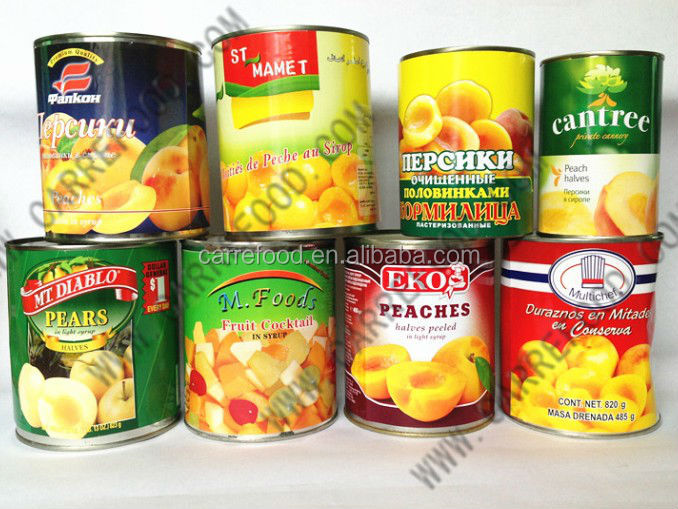 Syrup Preservation Process and Type pear mandarin yellow peach canned fruit