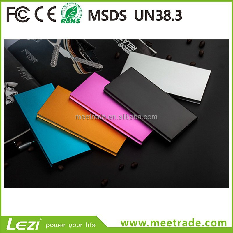 The ultra-thin metal polymer power bank 15000 Ma mobile power universal mobile phone <strong>portable</strong> charging