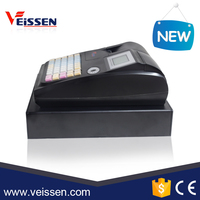 Cash register paper roll machine with built in 58mm thermal printer supermarket cash register