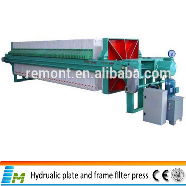 Automatic membrane filter press for edible oil
