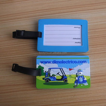 plastic golf luggage tags, PVC golf bag ID tag