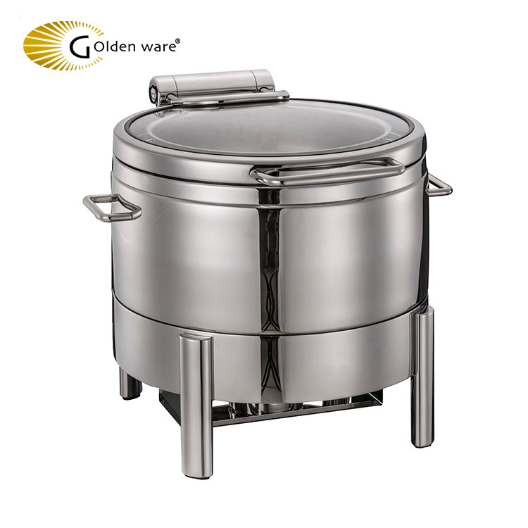 Golden Ware 11L Stainless steel double wall insulated buffet chafing dish electric food warmer