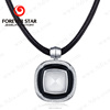 2017 Fashion Silver Smart Pendant Necklace Jewelry with Agate and Crystal Embed
