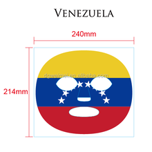 Customized Sports Sticker Brazil Spain Venezuela Flag Full Face Mask Temporary Tattoos