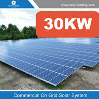 Residential & commercial grid tie solar system 30KW powerful monocrystalline solar panel at wholesale prices