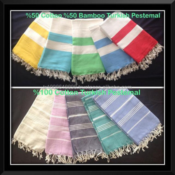 %100 cotton Turkish pestemal hamam towels