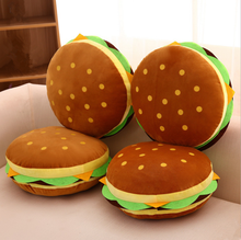 Creative food simulation hamburger decorative throw pillow