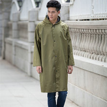 Fashion heavy duty long pvc raincoat for men