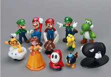 18 pcs/set super mario 3-7 cm mini action figures toys for kids
