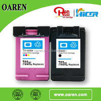 Remanufactured inkjet cartridge for hp 703xl compatible inkjet cartridge for hp 703 xl direct from China factory