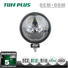 "5"" high low beam led head light for motorcycl car use 80W E13approved"
