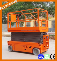 10m fully automatic hydraulic scissor lift / electric mini scissor lift / scissor lift home elevator