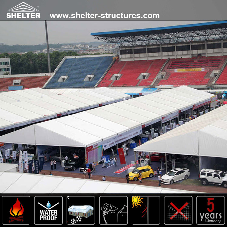 Customized a shaped aluminum tents for car show event tent