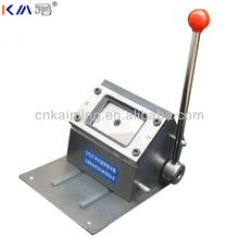 KM customization available metal body high quality manual credit card punching machine