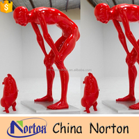 outdoor decoration red resin sculpture NTRS-CS125S