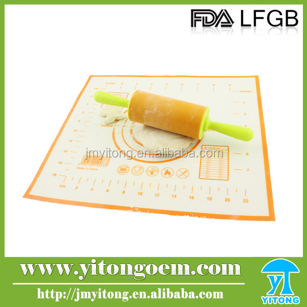 Made In China FDA&LFGB Approved Good Quality baking mat with measurement