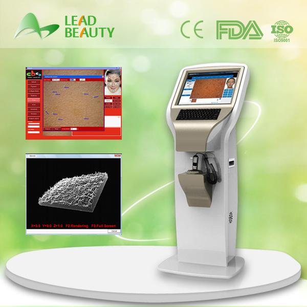 Beauty salon/ beauty mall pupular stationary professional face lamps skin analyzer