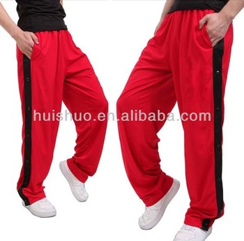 Basketball sports loose training sweatpants,red basketball pant