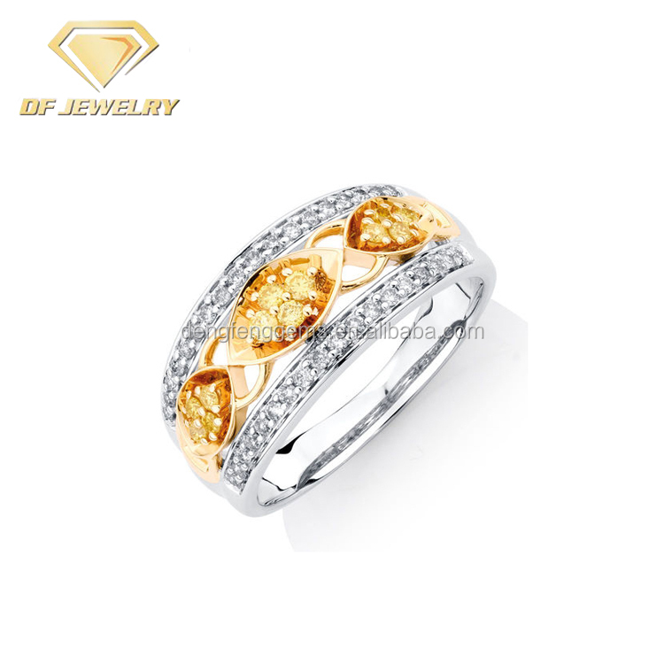 Wholesale China Jewelry Supplier High Quality Buyers Yellow Crystal Engagement Ring