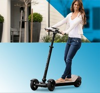 High speed self balance board motor vehicles 3-wheel folding electric scooter with LCD screen