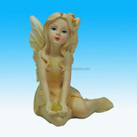 Handmade Polyresin girl fairy figurine/resin fairy
