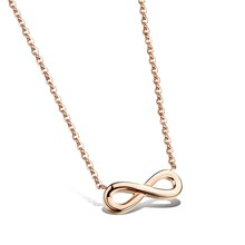 Marlary New Arrival Classic Design Gold Plated Stainless Steel Jewelry Eternal Infinity Symbol Necklace For Sale