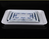 Ecofriendy rectangle melamine tray set (OEM)