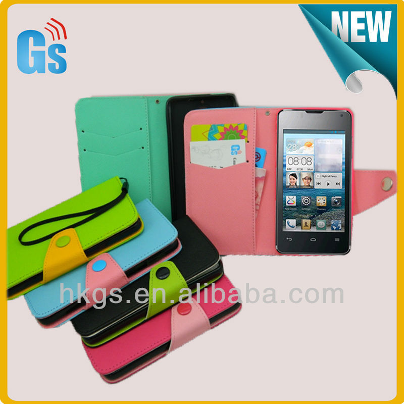 Wholesale Alibaba Express Leather Flip Case Wallet Card Holder For Huawei Ascend Y300 U8833 / T8833