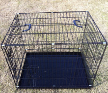 "24"" 30"" 36"" 42"" 48"" black pink blue color steel wire pet dog cage crate"