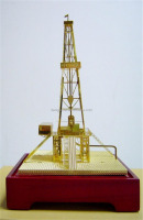 metal art model metal art gift of the Oil rig Christmas gifts / commemorative gifts can be OEM /ODM