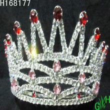 Wholesale Mini Red Colored Rhinestone Pageant Crowns