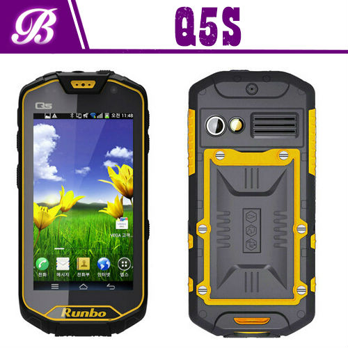 "4.5"" MTK6589 Quad core 1.2G 1280*720 IPS Screen runbo Q5S rugged phone"