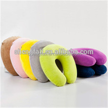 PVC inflatable neck travel pillow / inflatable air neck pillow for travel