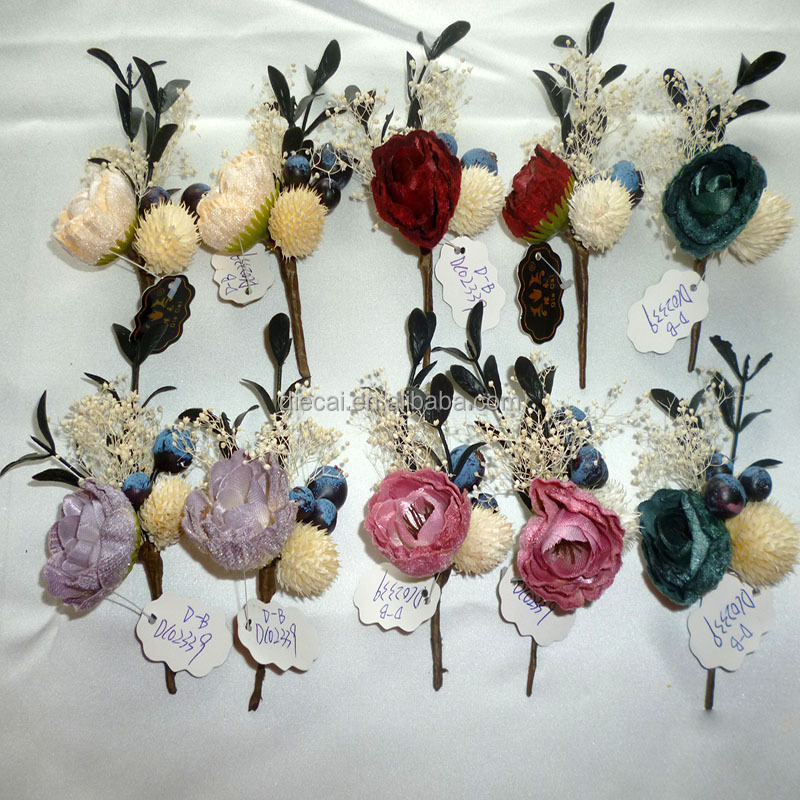 New wholesale multicolor hair dried <strong>flower</strong> for bulk order