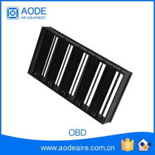 Mechanical adjustable opposed blade air Damper OBD air volume control damper, ducting diffuser for HVAC grille and ductwork