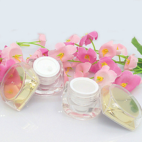 Golden Custom made crystal acrylic bottle for cosmetic