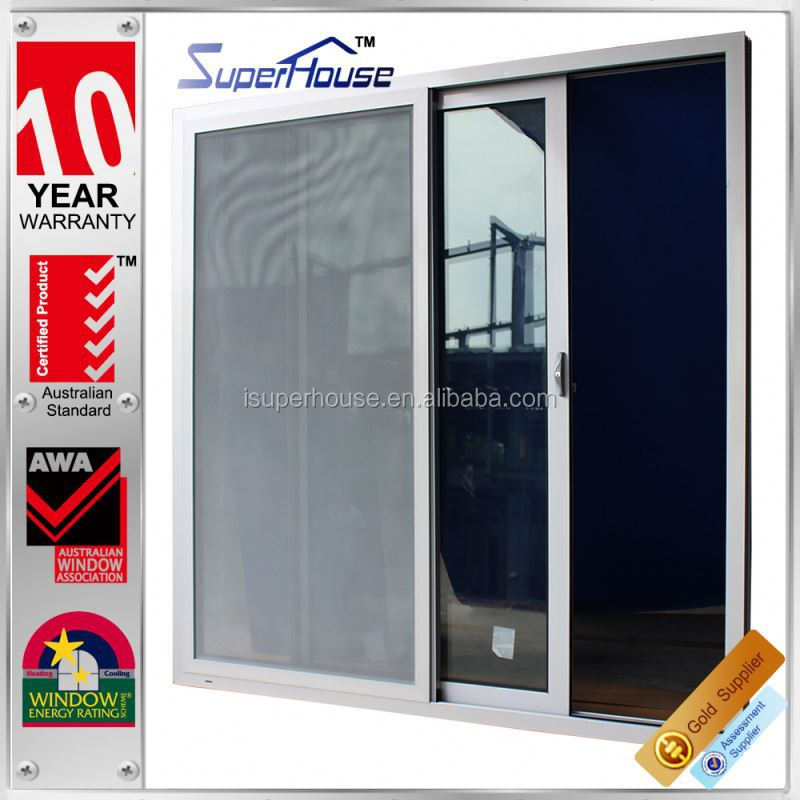 superhouse AS2047 standard used commercial hot sale double glass custom sliding doors