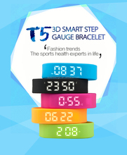 2017 Bluetooth 4.0 Pedometer Sleep Monitor T5 Smartband OLED Sport Smart Bracelet for android for iphone