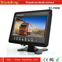 7 inches tft lcd color portable headrest car lcd dvd player monitor 12 volt with av input