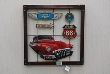 Antique motor vehicle metal wall custom printing tin sign plaque for wall decor