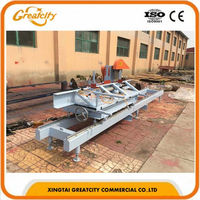 circular sawmill with carriage round log sliding table saw timber sawmill saw