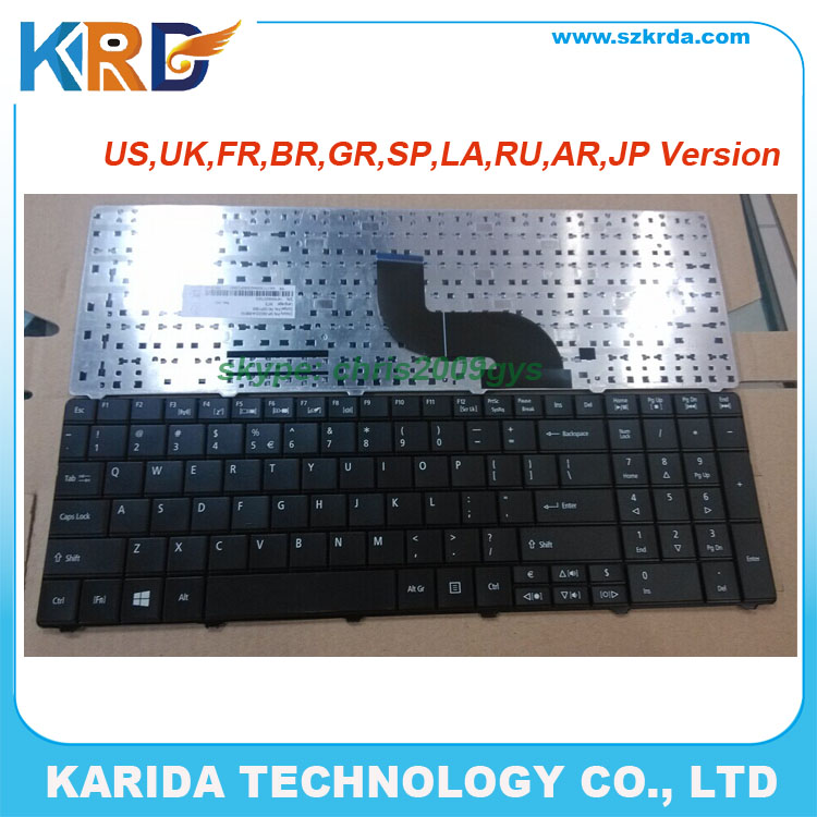 Factory price US keyboard for Acer E1-571 5745 5745G 5741 5336 E1-531 E1-521 notebook keyboard