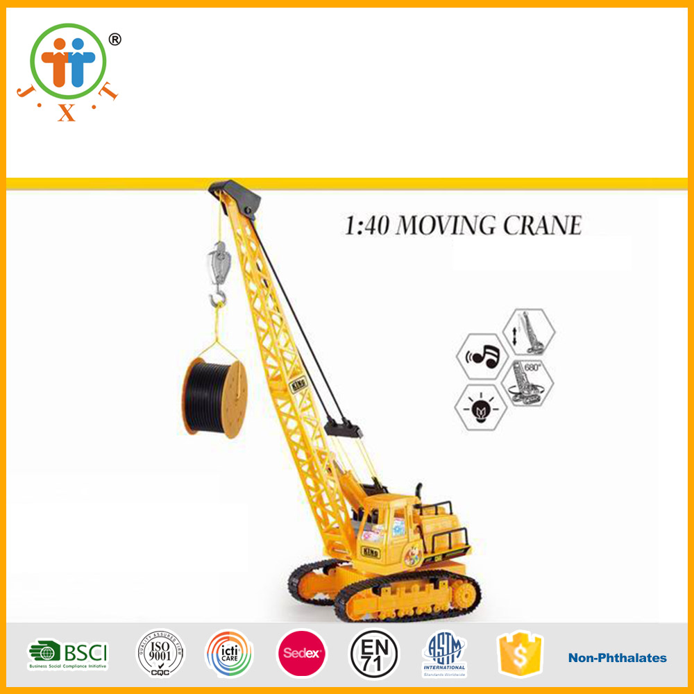 Newest kids moving model toys crane 1:30 rc car with rechargeable battery