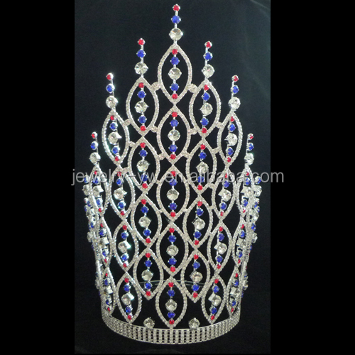 cheap tall pageant crown tiara for sale