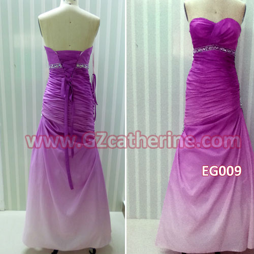 Purple off shoulder back open A line long evening prom gown