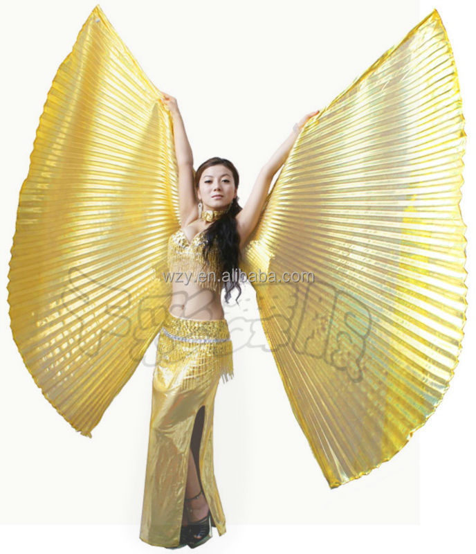 fashion style large Dance Costume Belly Dance Isis Wings Golden