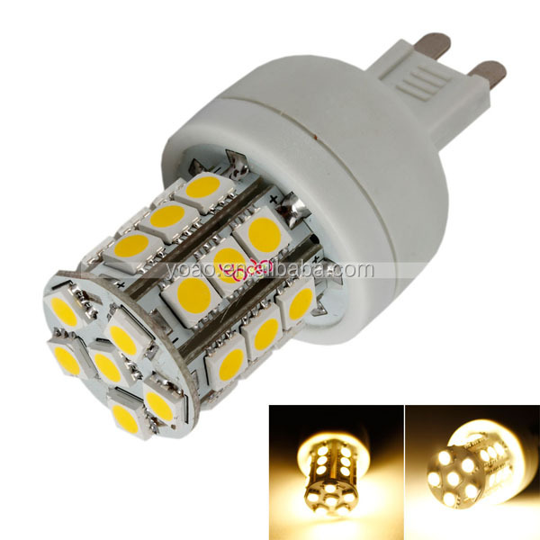 G9 3W 110V SMD5050 Warm White 27-LED Corn Light Bulb Lamp Energy Saving