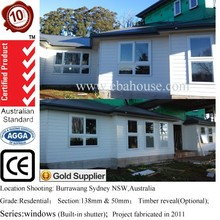 AS2047 Australia standard double glazed aluminium chain winder awning window design with chain winder in white