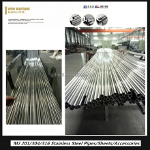 Foshan Mingjiang ASTM A312 Grade Tp304 stainless steel building material stainless steel welded steel pipe